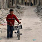 A boy and his bike in  Aleppo