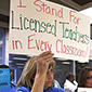 I stand for licenced teachers