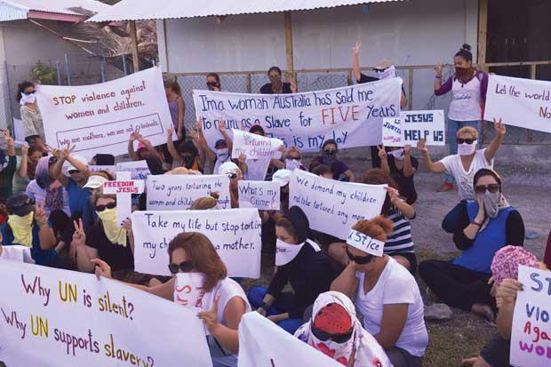 Nauru Protestors
